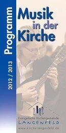 Musik Kirche Musik Kirche - Evangelische Kirchengemeinde ...
