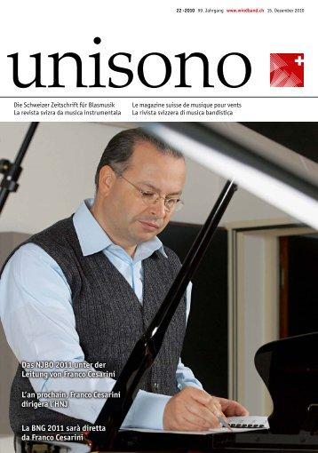 Das NJBO 2011 unter der Leitung von Franco Cesarini - Schweizer ...