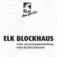 Liefer- und Leistungsbeschreibung Preise 08 ... - Elk Fertighaus AG