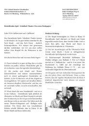 Theater / Darstellendes Spiel - von Ralf Beiderwieden