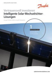 Vertrauensvoll investieren Intelligente Solar ... - Danfoss