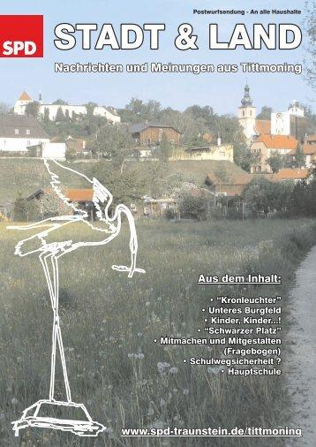 """""""Stadt & Land"""" - Ausgabe Juli 2007 herunterladen ... - Tittmoning"""