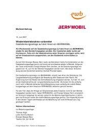 Wiederinbetriebnahme vorbereitet (PDF) - Energie Wasser Bern