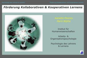 Förderung Kollaborativen & Kooperativen Lernens