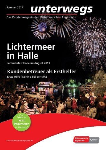 Download PDF unterwegs 2013 Nr. 2 - Mitteldeutsche Regiobahn