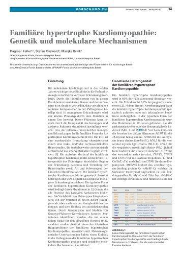 Familiäre hypertrophe Kardiomyopathie: Genetik und molekulare ...