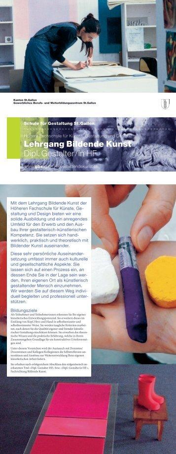 Leporello Bildende Kunst - und Weiterbildungszentrum St. Gallen