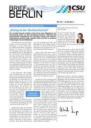 Brief aus Berlin vom 11.02.2011 - Ulrich Lange