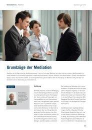 Grundzüge der Mediation - Deutsche Telekom Training GmbH ...