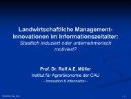 Landwirtschaftliche Management-Innovationen im ...