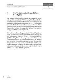 4 Das Verbot von Insidergeschäften, § 14 WpHG 12.1 4