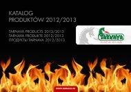 KATALOG PRODUKTÓW 2012/2013 - Tarnava