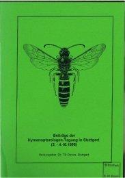 Beiträge der Hymenopterologen-Tagung in Stuttgart (2 ... - DGaaE