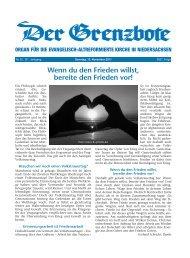13. November 2011 - Die Evangelisch-altreformierte Kirche in ...