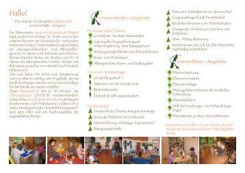 unser Flyer - Kindergarten-Langenei