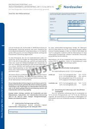 MUSTER - Nordzucker AG