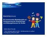 Kind & Ko(mmune) Ein kommunales Modellprojekt zur ...