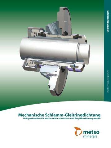 Mechanische Schlamm-Gleitringdichtung