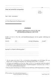 Anzeige einer geplanten Aufforstung - Formular