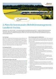2. Platz für kommunales Mobilitätsmanagement ... - Effizient mobil