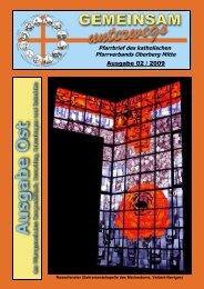Ausgabe 02 / 2009 - Katholische Pfarreiengemeinschaft Oberberg ...
