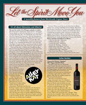Signature Magazine, April 2012 - Sherbrooke Liquor
