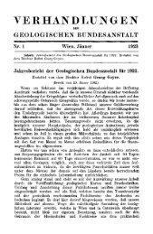 1922 - Geologische Bundesanstalt