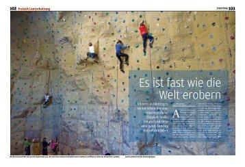 24. Januar 2012 Klettern mit der Coopzeitung - Kletterhalle Haslital