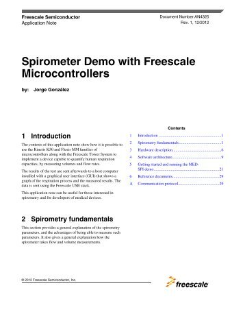 Spirometer Demo with Freescale Microcontrollers