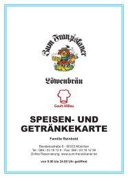 Speise- u Getränkekarte 2013-05-08.indd - Zum Franziskaner