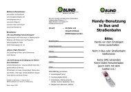 BUND Flyer - Handynutzung in Bus und Bahn (PDF-Datei - ca. 60 KB)