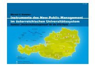 Instrumente des New Public Management im österreichischen ...