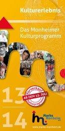 Kultur-Programmheft PDF - Marke Monheim