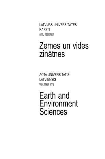 Zemes un vides zinātnes Earth and Environment Sciences - Latvijas ...