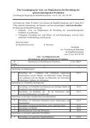 Liste von Tätigkeitsarten für Herstellung der spitzentechnologischen ...