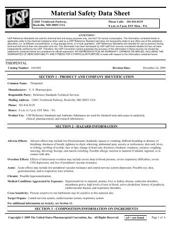 rptEntry Form Print - US Pharmacopeial Convention