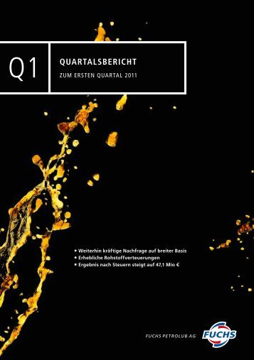 zum 1. Quartal - Fuchs Petrolub AG