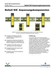 DeltaV SIS Anpassungskomponenten - Emerson Process ...