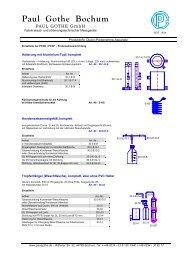 Einzelteile - Paul Gothe GmbH
