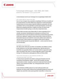 Technologie-Erklärungen – EOS 700D, EOS 100D und EF ... - Canon