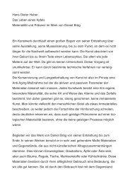 Hans Dieter Huber Das Leben eines Apfels ... - Daniel Bräg