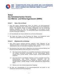 Statut des Schweizerischen Vereins von Wärme- und ... - zu SWKI