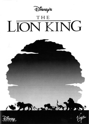 Page 1 Page 2 THE LIGN KING PC Amiga Manual Addendum PC ...