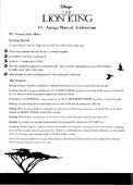 Page 1 Page 2 THE LIGN KING PC Amiga Manual Addendum PC ... - Page 2
