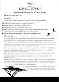 Page 1 Page 2 THE LIGN KING PC Amiga Manual Addendum PC ... - Page 6