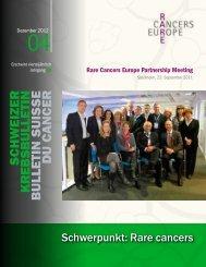 schweizer krebsbulletin b ulletin suisse du c ancer - Sarkomboard