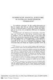 Interpretación semántica estructural de materiales dialectológicos ...