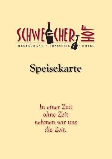 Speisekarte - Hotel Schweicher Hof