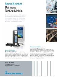 Smart & sicher Das neue TopSec Mobile - Rohde & Schwarz ...