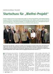 """Startschuss für """"Bleifrei-Projekt"""""""